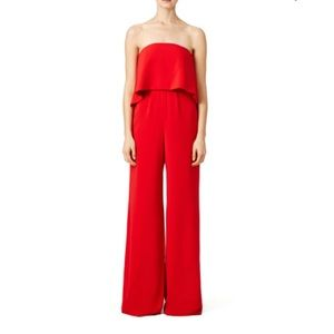 Jay Godfrey Red Jumpsuit